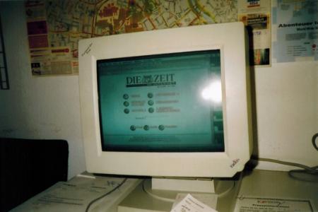 Screenshot der 1. Ausgabe der Zeit Online (aka Die Zeit im Internet)